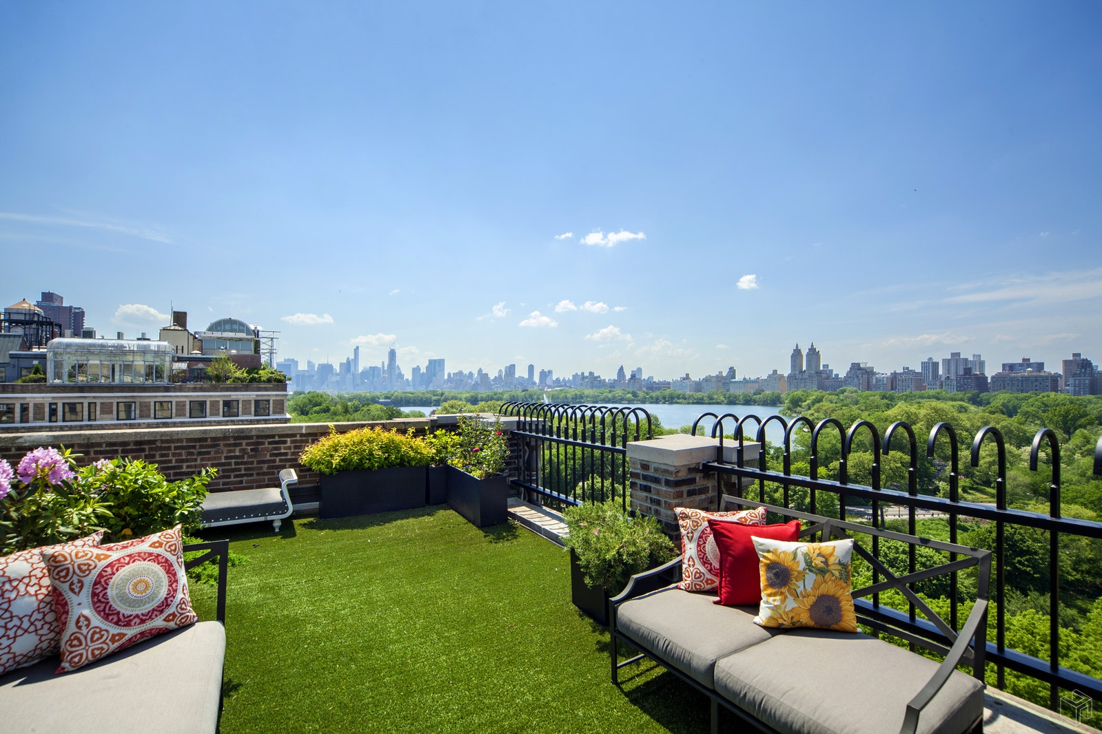 Located on Fifth Avenue's Museum Mile, this penthouse duplex boasts panoramic views of Central Park, the reservoir, and  dramatic skyline views to Midtown Manhattan and beyond! This meticulously renovated home features a grand, corner living room with southwest exposure, wood burning fireplace and stunning views over looking Central Park. On the first level, the formal dining room and library/guest room have direct park views. There is a top of the line windowed chef's kitchen, den/media room with built in banquette, separate pantry and laundry, office/staff's room and more! Upstairs, there are 4 additional bedrooms. The master suite features a private ensuite marble bath with window, soaking tub and stall shower. It also has a large walk-in closet and access to the wrap terrace. The additional 3 bedrooms also have ensuite baths. The private, wrap terrace is perfect for entertaining with its captivating views of Central Park.  Located in a top prewar coop. Shown by private appointment.