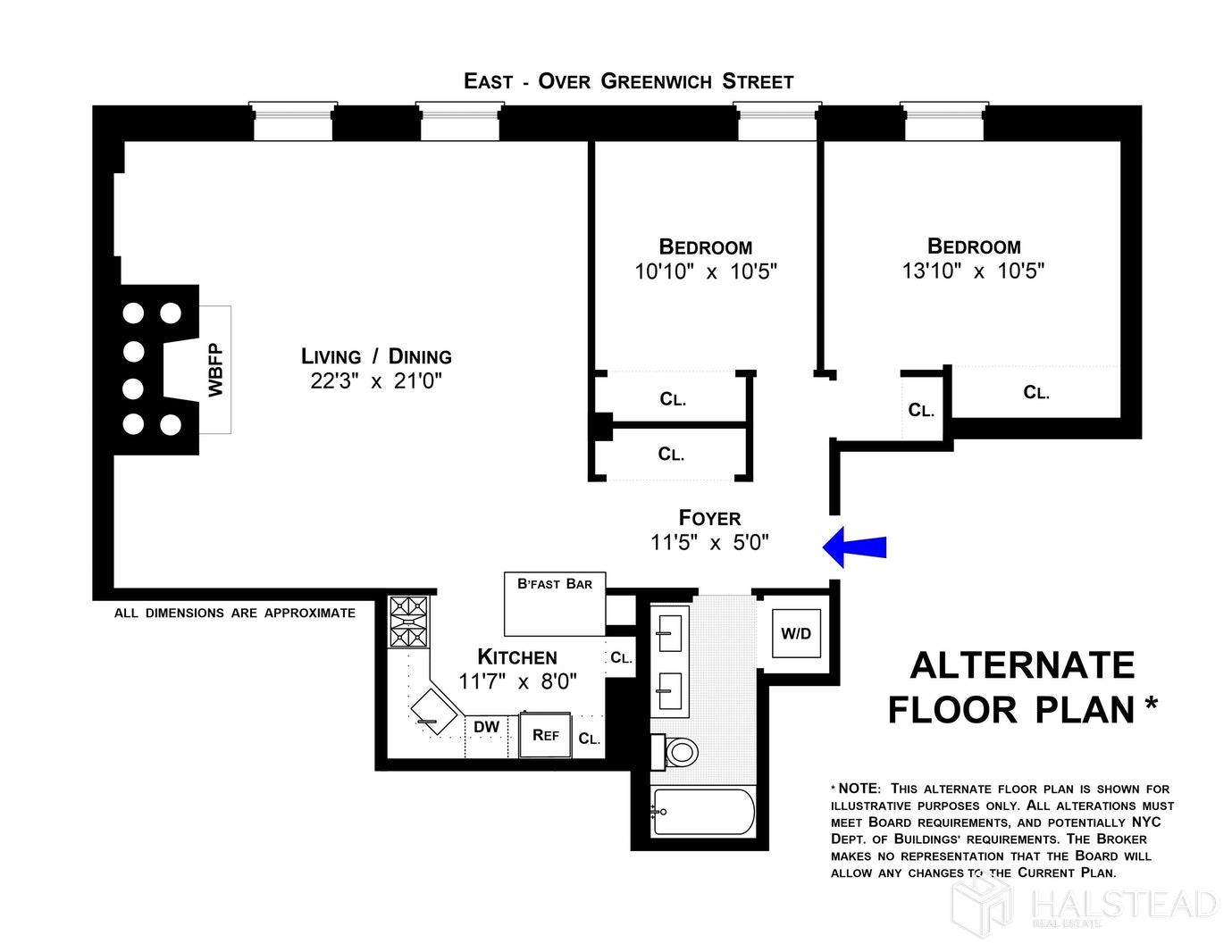 708 GREENWICH STREET 6A, West Village, $1,725,000, Web #: 19857497