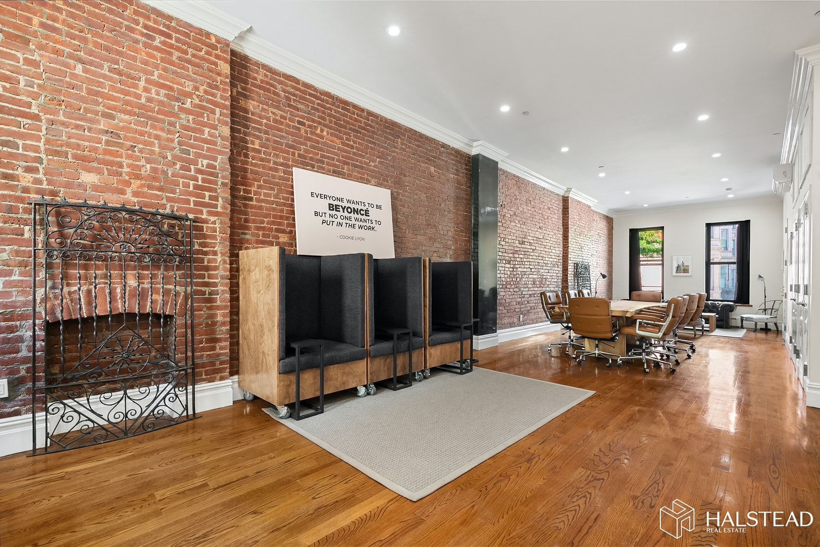 Located in charming and convenient Mount Morris Park, everything in this townhome has been renovated. This duplex unit is ideal for someone who wants space for everyone in the home all day long. The expansive 52 x 18 living space is unlike anything you've seen! North-facing bay windows with seating will have you gazing all day over the row of brownstones on 5th Avenue as well as the lush greenery from the park.The modern and wide galley kitchen features tall, soft-close cabinets, stainless steel appliances and a juliet balcony which overlooks the terrace below. All three bedrooms have en suite baths, can accommodate a queen-sized bed plus furniture and has numerous closets. NOTE: Renting the complete house is an option. Please view our 3D Walkthrough.