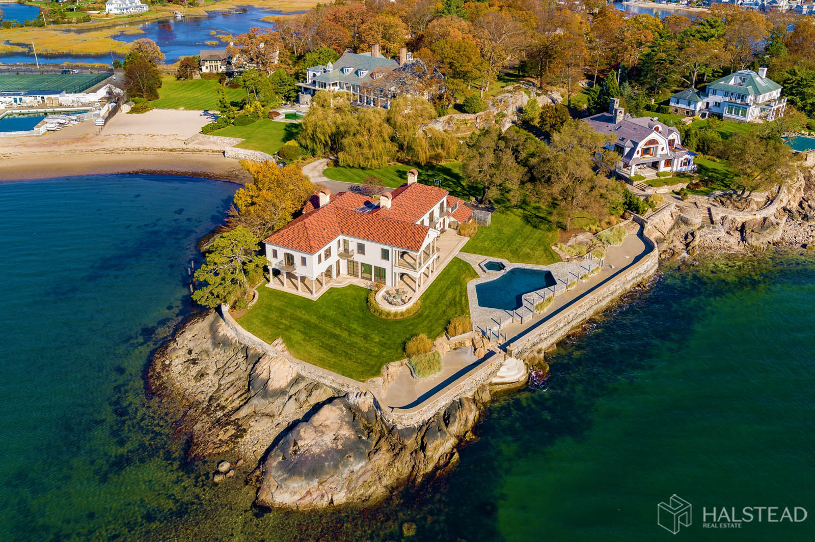 25 Butlers Island Road, Darien, Connecticut, 06820, $10,900,000, Property For Sale, Halstead Real Estate, Photo 1